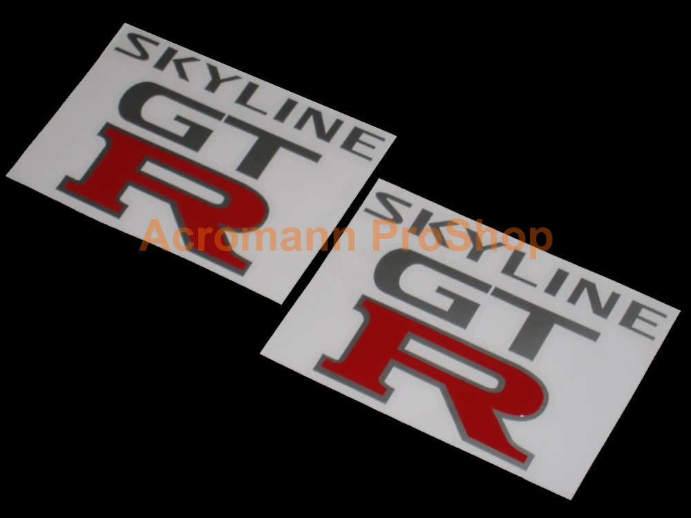 Skyline GTR (GT-R) 4inch Decal (Style#4) x 2 pcs